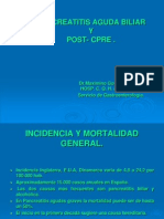 1 Pancreatitis Aguda Biliar y Post-cpre