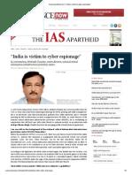 India is Victim to Cyber Espionage
