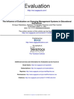 The Influence of Evaluation on Changing Management Systems in Educational Institutions