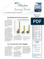 The Learning Center's March Newsletter
