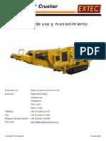Crusher - Trituradora TRIO ES C10+ Manual de Servicio