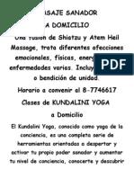 Masaje y Yoga