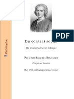 Jean Jacques Rousseau Du Contrat Social 1762