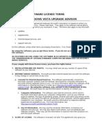 Microsoft Software License Terms Microsoft Windows Vista Upgrade Advisor