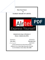 Project report on Market share of Airtel
