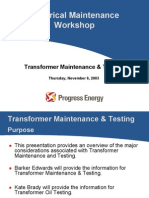 Electrical Maintenance Workshop