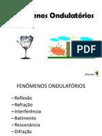 FENÔMENOS ONDULATÓRIOS