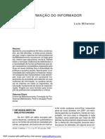 BIBLIOTECONOMIA - A formação do informador - Luís Milanesi