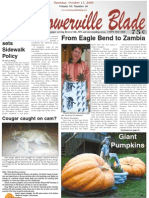 The Browerville Blade; October 15, 2009