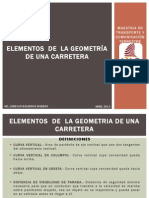 Elementos de La Geometria de una carretera