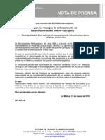 NP. 025-14 Finalizan Los Trabajos de Reforzamiento Del Puente Carriquiry
