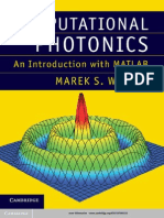 Computational Photonics an Introduction With MATLAB_Book