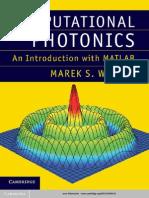 Computational Photonics an Introduction With MATLAB_Book