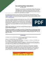 Air Flow and Fuel Flow Calculators