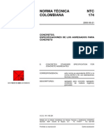 NTC 174 Especificaciones de Los Agregados Para Concreto
