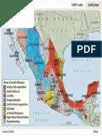 Mapa Carteles Narco 2011