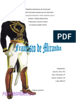 Francisco de Miranda Catedra Bolivariana