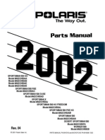 Sportsman 500 HO, RSE, DUSE, 2002 Parts Manual