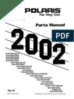 Sportsman 500 HO, RSE, DUSE, 2002 Parts Manual