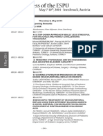 ESPU - 25th Anniversary Congress - Program - Thursday 8, May 2014