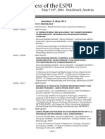 ESPU - 25th Anniversary Congress - Program - Saturday 10, May 2014