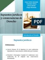 Supuestos jurídicos y consecuencias de Derecho