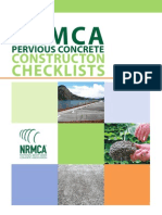 NRMCA Pervious Concrete Construction Checklist