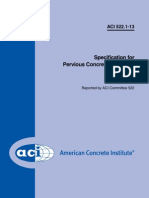 ACI Specification for Pervious Concrete Pavement