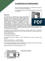 Investigación sobre clasificación de Transformadores