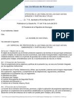 NI - Ley 718 LEY ESPECIAL DE PROTECCIÓN A LAS FAMILIAS EN LAS QUE HAYAN EMBARAZOS Y PARTOS MÚLTIPLES 05042006