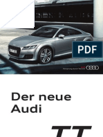 Audi TT Product Flyer (Germany)
