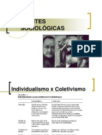 Aula 3 - CORRENTES SOCIOLÓGICAS
