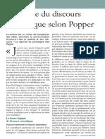 La Forme Du Discours Scientifique Selon Popper