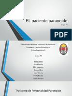 EL Paciente Paranoide