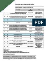 TEO4 Cronograma de Avaliações - 2014.1