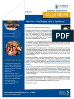 Massey Manawatu Halls News Issue One 2014