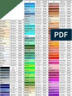 Tabla de Colores Con Java y HTML