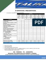 Precios Por Servicios Preventivos
