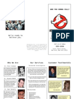 Ghostbusters Brochure