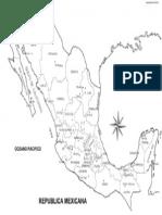 Mapa_Mexico Mapa Nombres Divisiones Estados