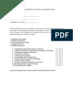 Encuesta General de Entorno Administrativo
