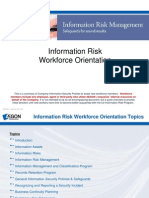 Information Risk Workforce Orientation