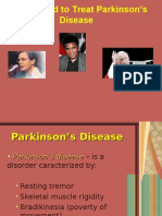 Lecture 2, Drugs for Parkinson