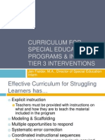 curriculum for special education programs  intensive tier
