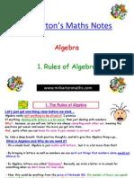 1. Rules of Algebra[1]