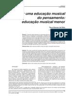 Por Uma Educacao Musical Do Pensamento Educacao Musical Menor