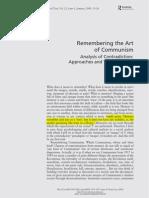 Remebering the ARt of Comunism