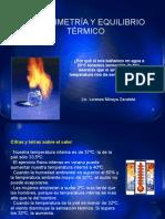 CALORIMETRIA Y EQUILIBRIO TÉRMICO 1