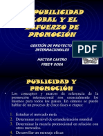 Presentación Publicidad Global y Esfuerzo de Promoción