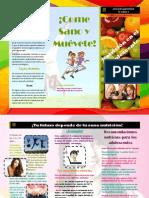Triptico Nutrición en el Adolescente